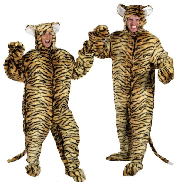 Adults Mens and Ladies Fur Wild Jungle Tiger Fancy Dress Up Costume